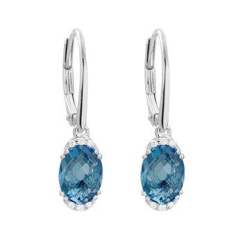 London Blue Topaz Dangle Earrings