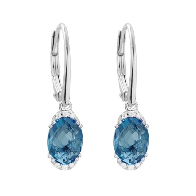 Artistry Limited London Blue Topaz Dangle Earrings