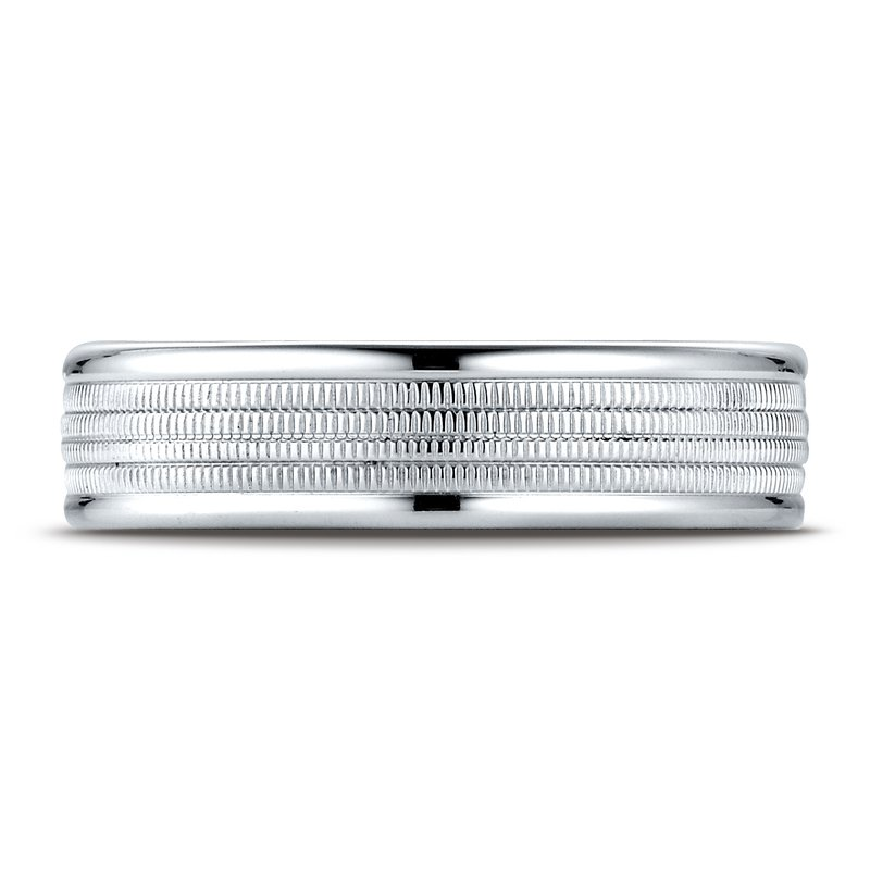 Benchmark Gents palladium wedding band