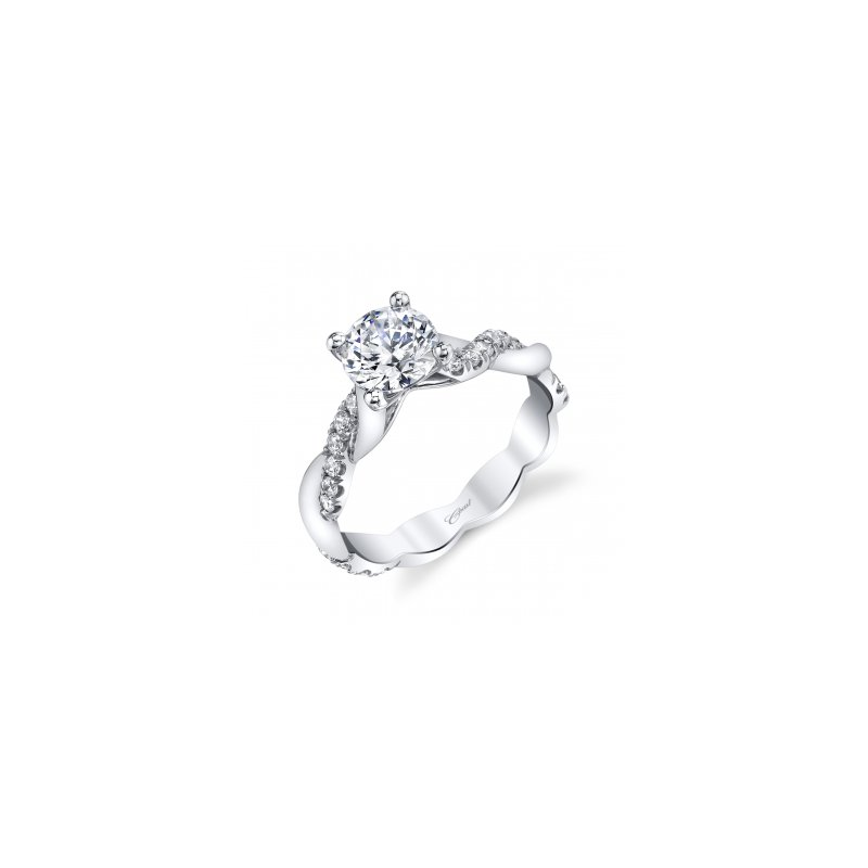 Coast Diamond Diamond Twist Engagement Ring
