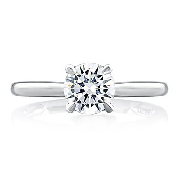 Diamond Solitaire with Diamond Accented Undergallery
