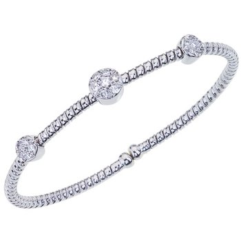 Diamond Cluster Stacking Bracelet