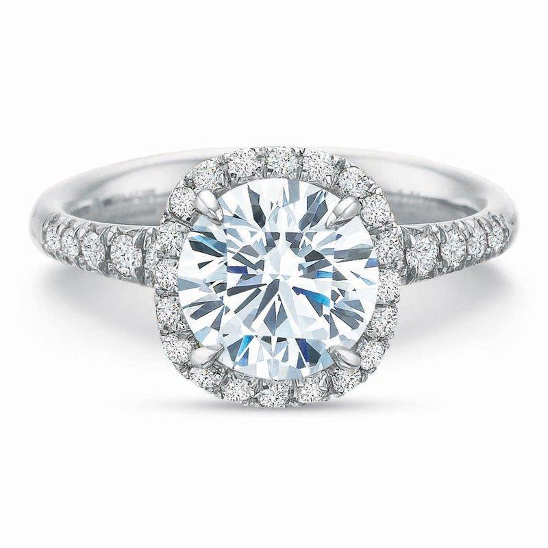 Forevermark Cushion Halo Diamond Engagement Ring