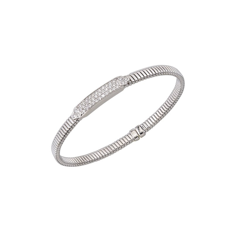 DA Gold Diamond Bar Stacking Bracelet