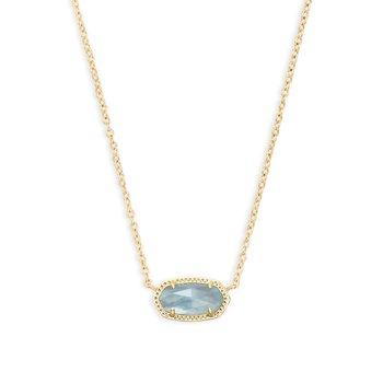 Elisa Necklace Gold Light Blue Illusion