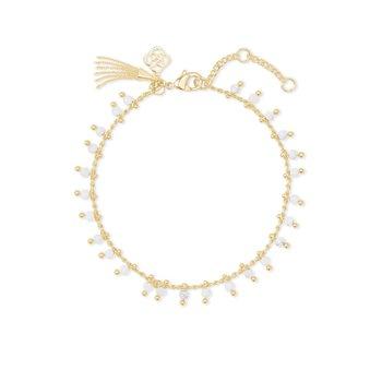 Jenna Delicate Bracelet Gold White Howlite