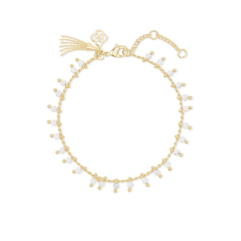 Kendra Scott Jenna Delicate Bracelet Gold White Howlite