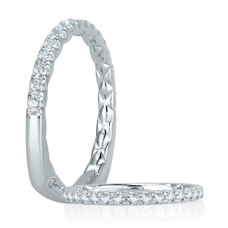 A. Jaffe Intricate Delicate Quilted Anniversary Band