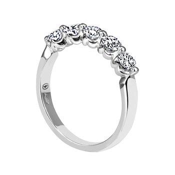 """""""Royal Prong"""" Five-Stone Diamond Wedding Band"""