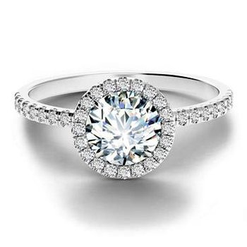 Center of My Universe Diamond Halo Engagement Ring