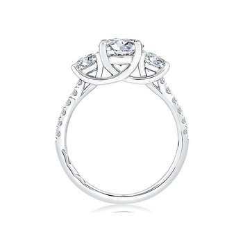 Classic Three Stone Engagement Ring