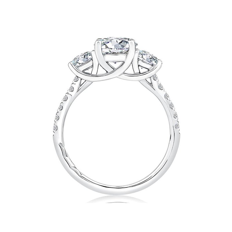 A. Jaffe Classic Three Stone Engagement Ring