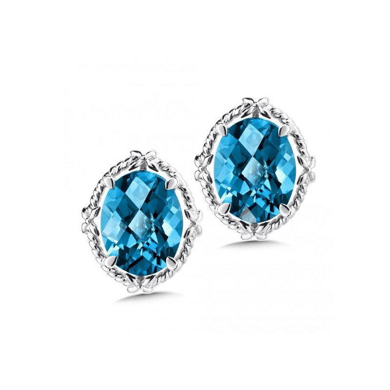 Colore SG London Blue Topaz Stud Earrings