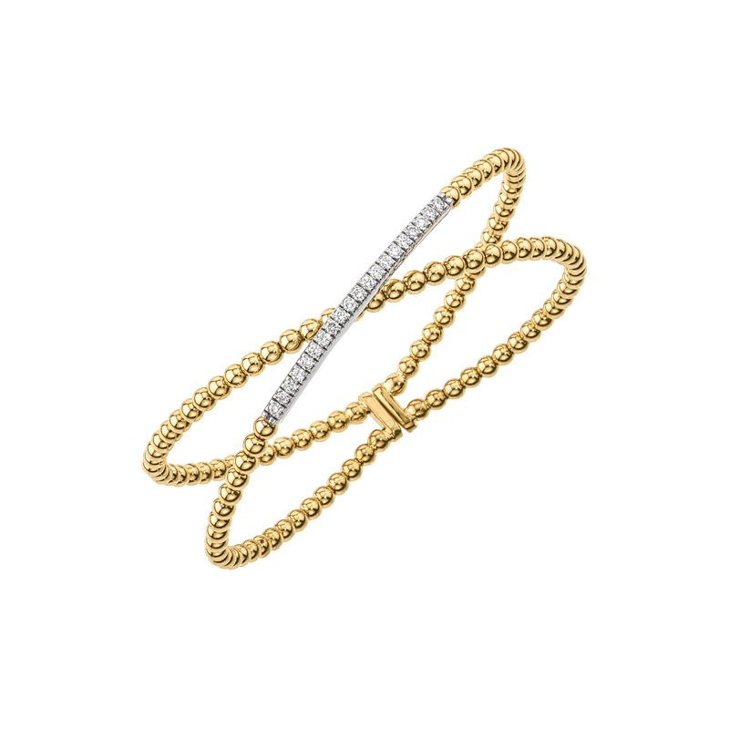 DA Gold Crisscross Diamond Bracelet