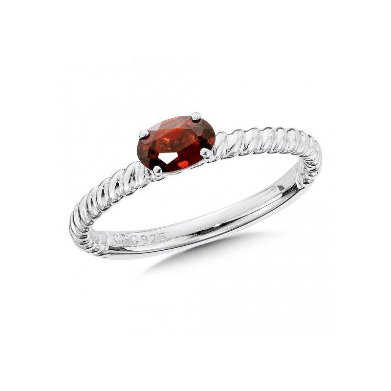 Colore SG Garnet Stacking Ring