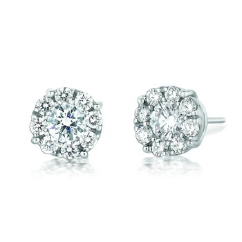 Forevermark® Round Cluster Studs