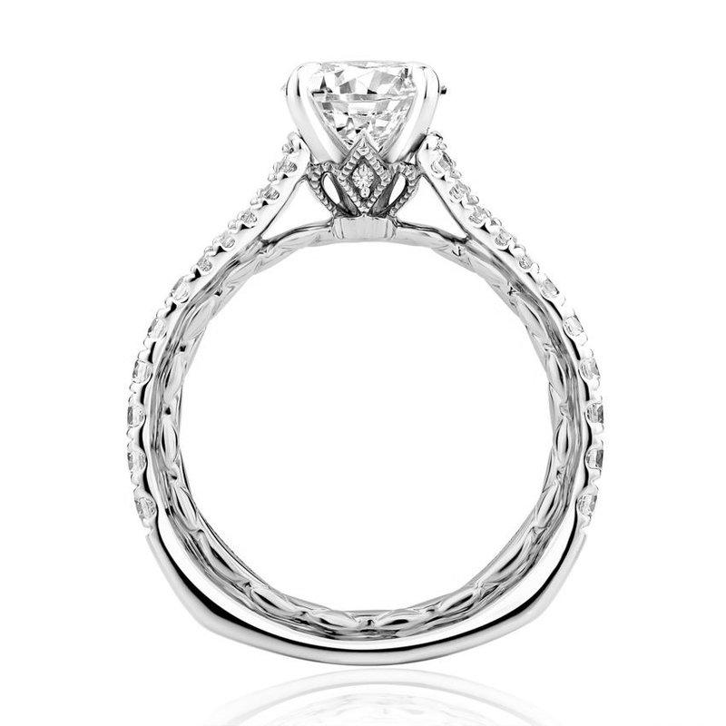 A. Jaffe Regal Split Signature Engagement Ring