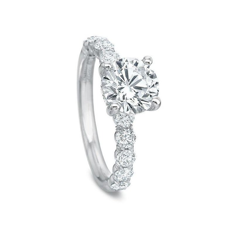 Precision Set Silk Collection Engagement Ring