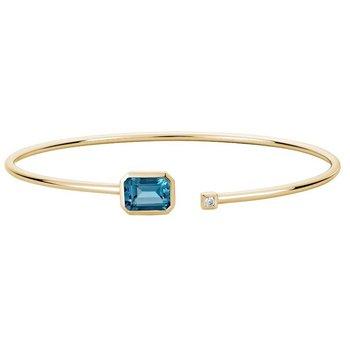 London Blue Topaz Bangle Bracelet