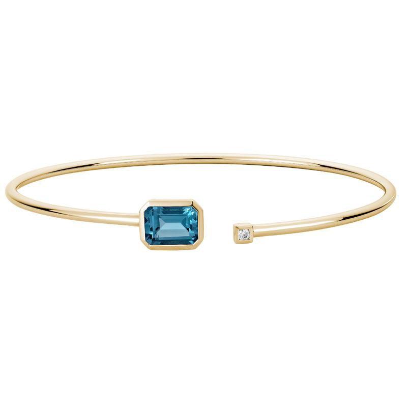 Artistry Limited London Blue Topaz Bangle Bracelet