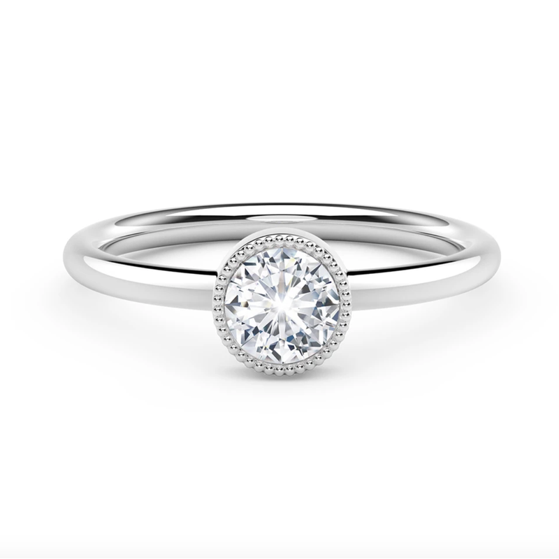 Forevermark Tribute Collection The Forevermark Tribute™ Collection Milgrain Bezel Ring