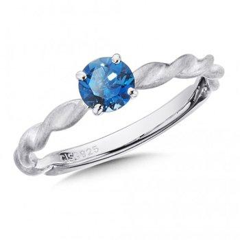 London Blue Topaz Stacking Ring