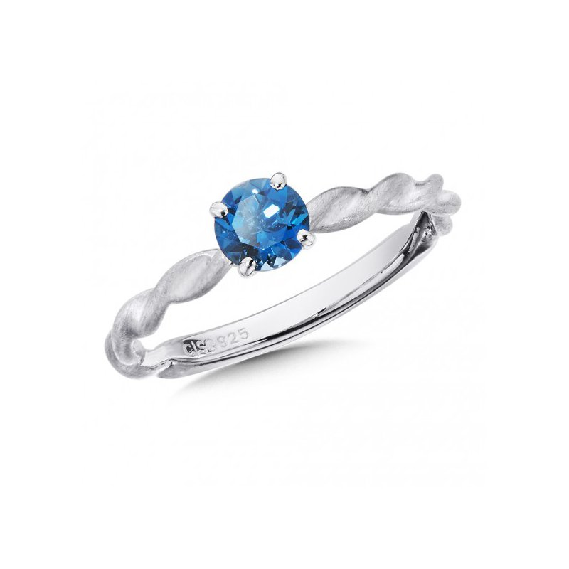 Colore SG London Blue Topaz Stacking Ring