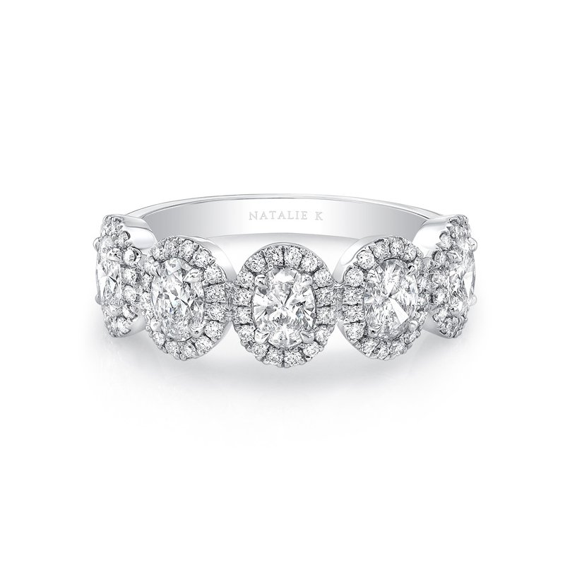 Forevermark Five Stone Oval Diamond Halo Band
