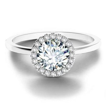 Center of My Universe Solitaire Halo Engagement Ring