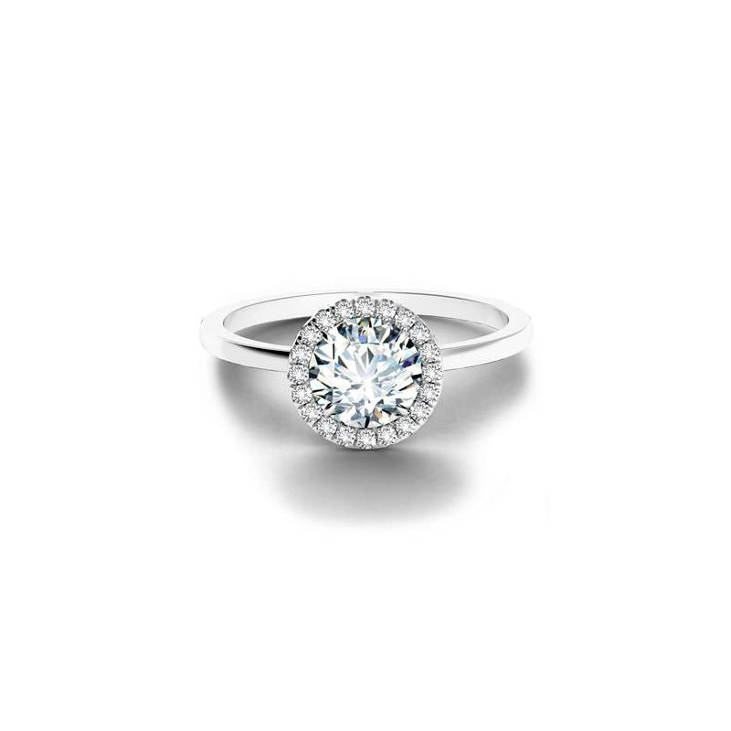 Forevermark Center of My Universe Solitaire Halo Engagement Ring