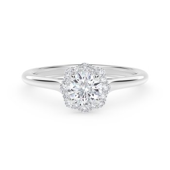 Center of My Universe® Floral Halo Engagement Ring