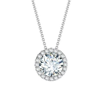 Center of My Universe Diamond Halo Pendant