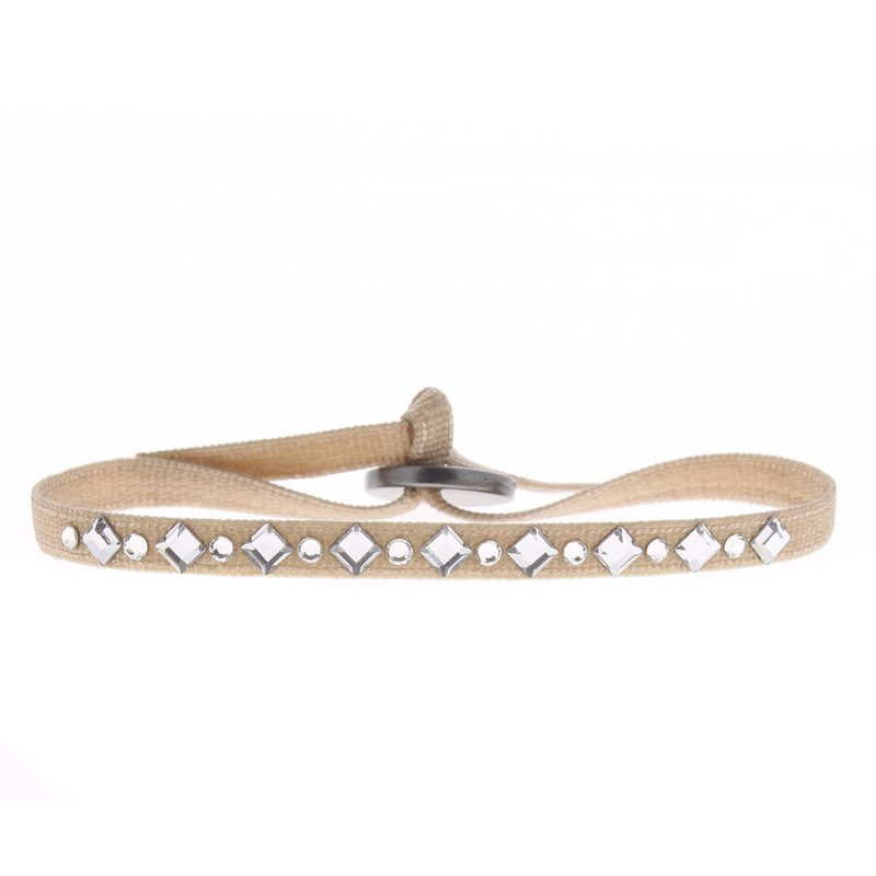 Les Interchangeables Mini Diamond and Rhinestones Ribbon Bracelet