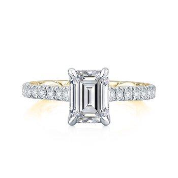 Empire Emerald Cut Diamond Engagement Ring