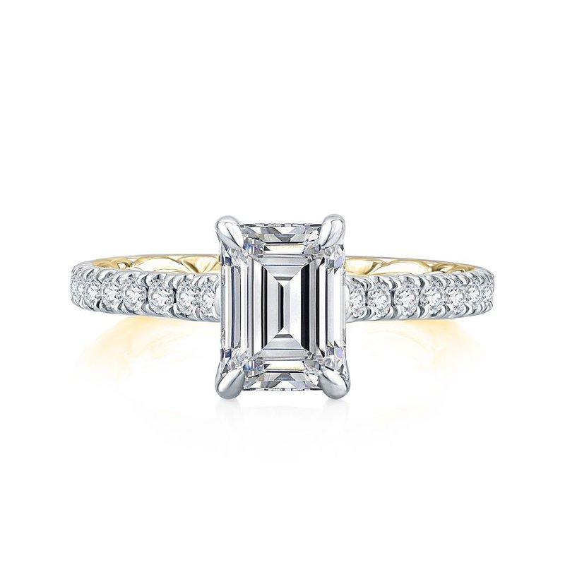A. Jaffe Empire Emerald Cut Diamond Engagement Ring