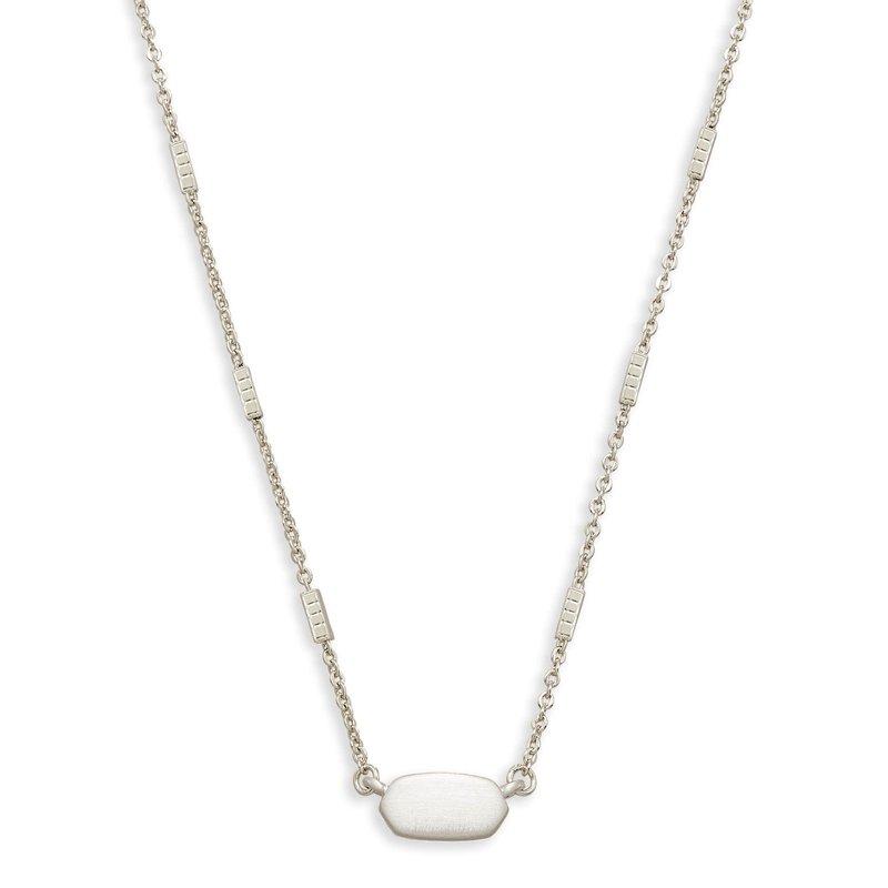 Kendra Scott Fern Pendant in Bright Silver