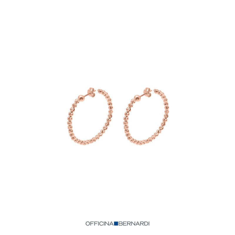 Desmos Slash Pink Hoop Earrings