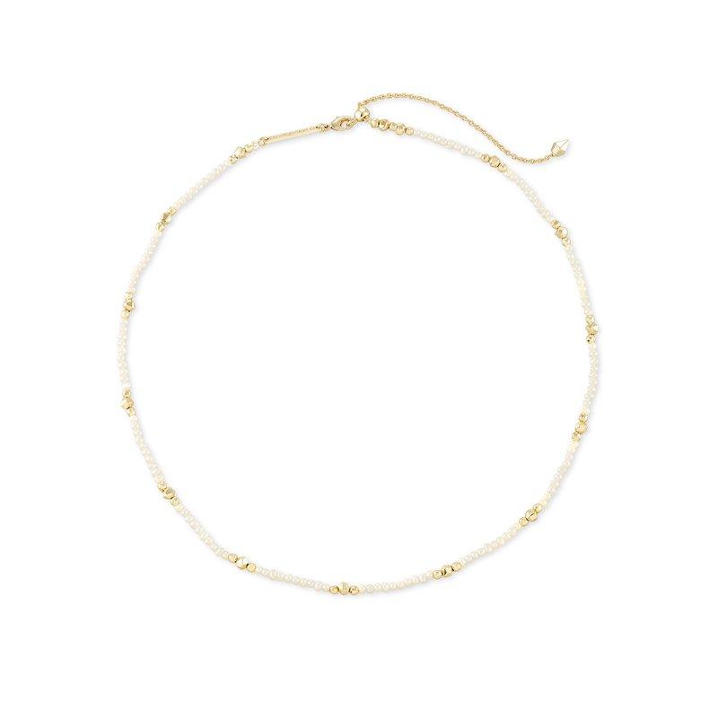 Kendra Scott Scarlet Choker Necklace Gold White Pearl
