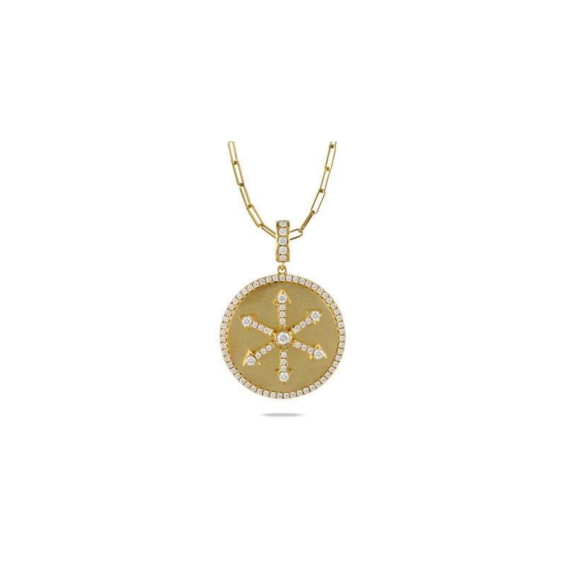 Doves Fibonacci Medallion Pendant