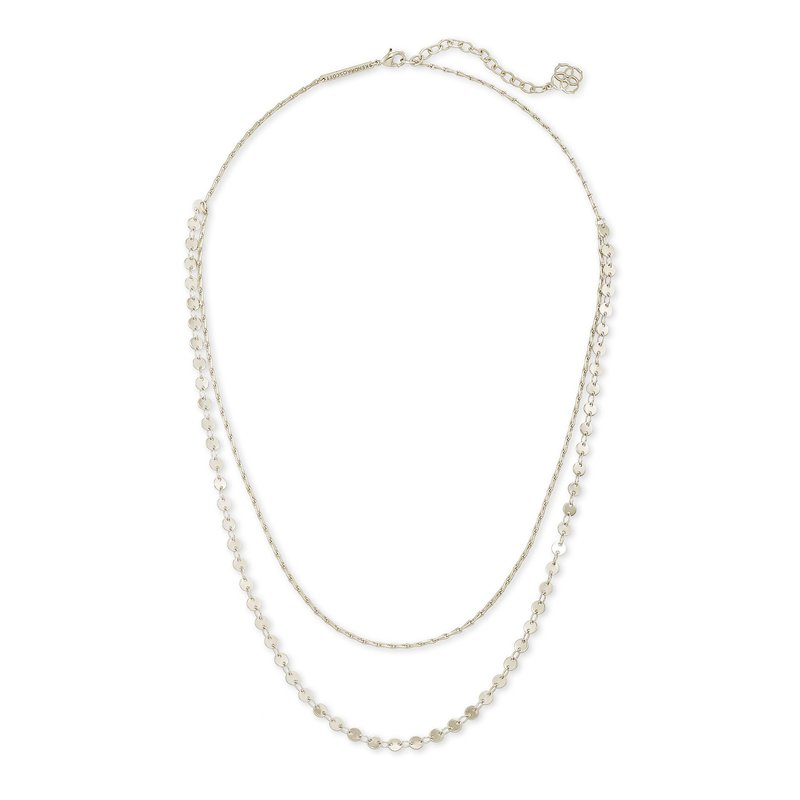 Kendra Scott Sydney Multi Strand Necklace In Silver