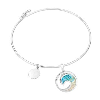 Dune Jewelry Ocean City Sand and Turquoise Gradient Wave Bracelet