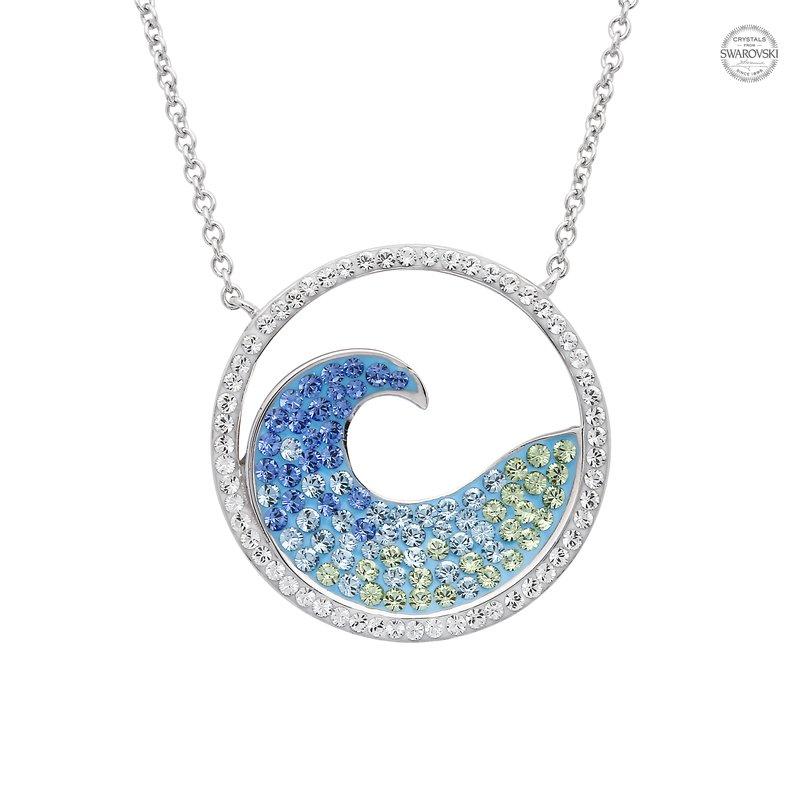 Ocean City Collection Swarovski Crystal Wave