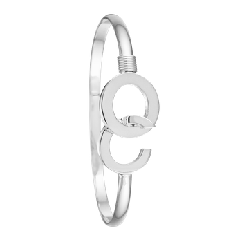 Ocean City Hook All Silver Bangle
