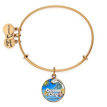 2020 Ocean City Maryland Alex and Ani bracelet - Gold