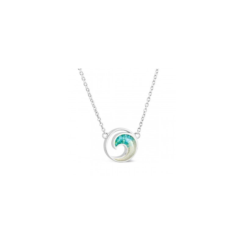 Ocean City Collection Dune Jewelry Ocean City sand and turquoise wave necklace - stationary