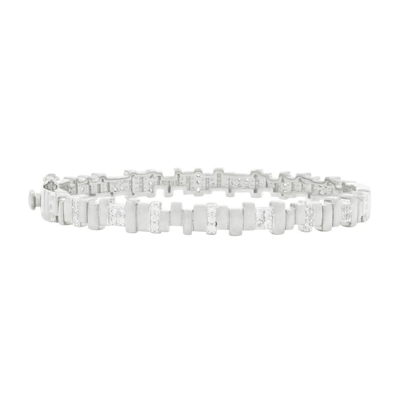 Freida Rothman RAD SS/CZ HINGE BANGLE