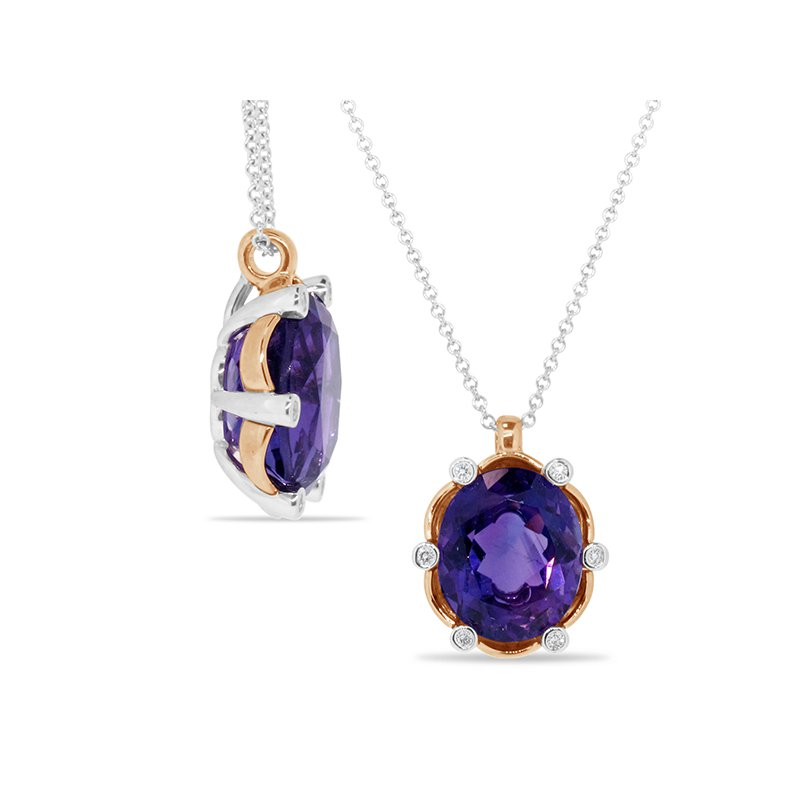 Aires Signature Collection Amethyst and Diamond Pendant