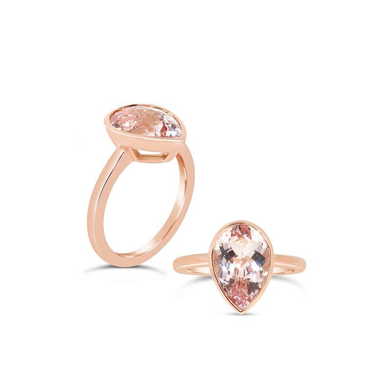 Aires Custom Fashion morganite ring