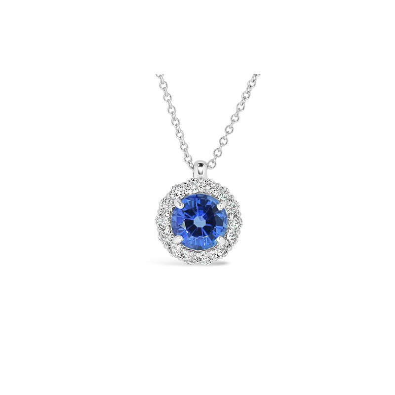 Aires Custom Fashion sapphire and diamond pendant
