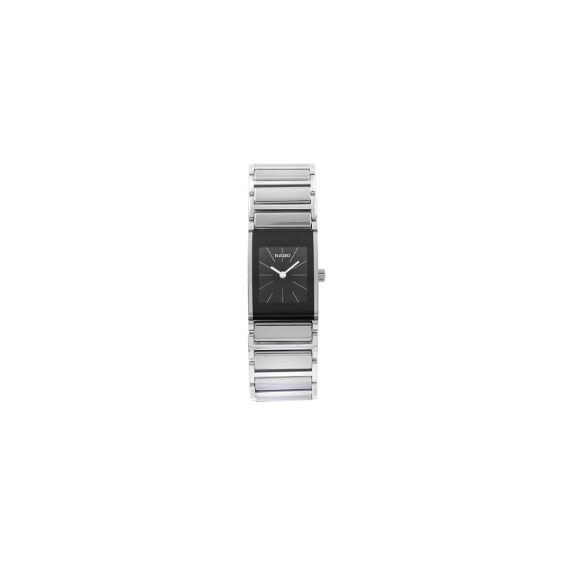 Rado Integral Quartz Black Dial Ladies Watch